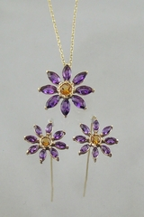 Amethyst and Citrine Flowers