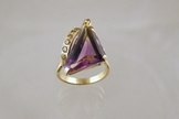Ametrine and Citrine Ring