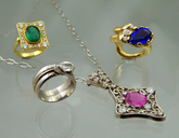 Emerald, Tourmaline, Tanzanite and Diamond Jewelry