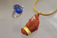 Tanzanite Ring and Fire Opal Pendant