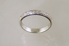 Pave Diamond Platinum Band