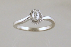 Marquise Halo Diamond Ring